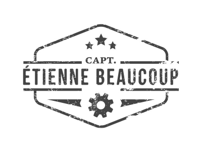 Logoontwerp - Captain Etienne Beaucoup - Upcycling designer